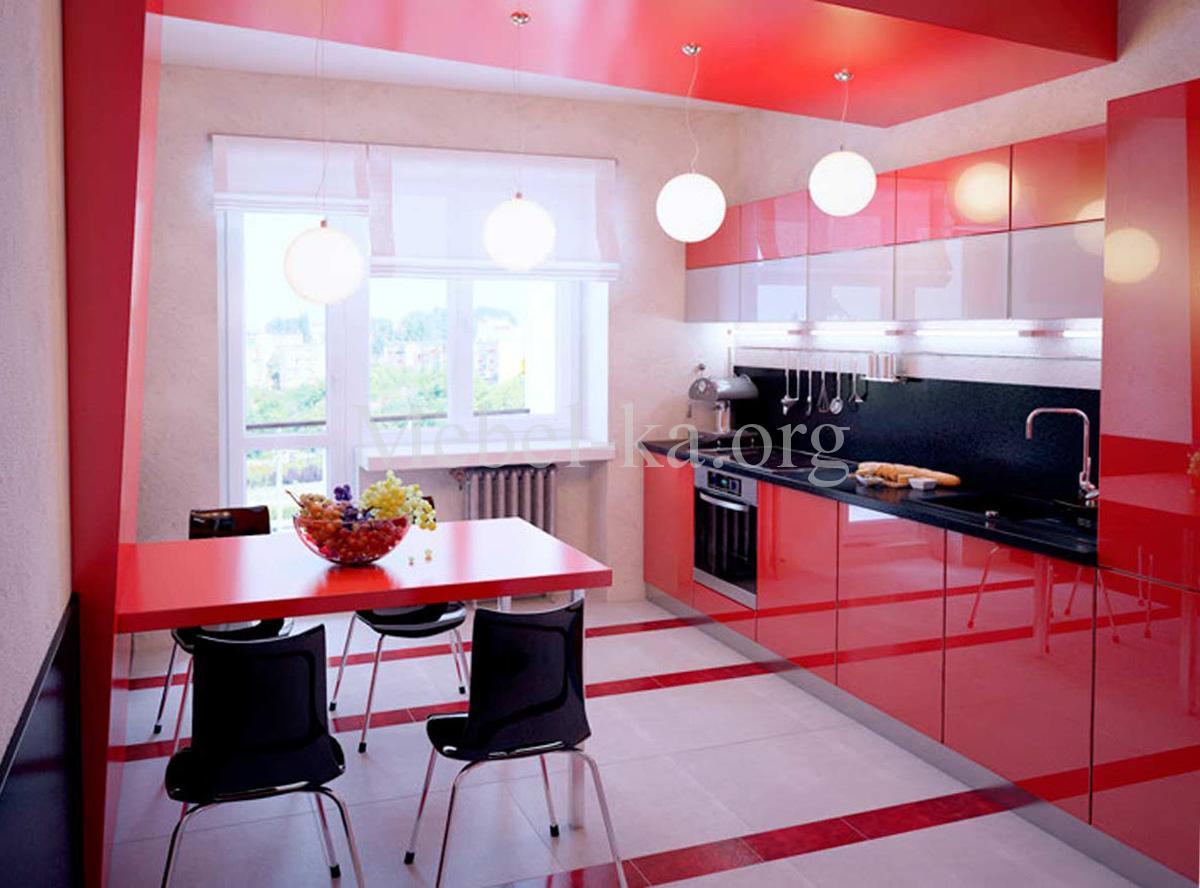 Черно-красная кухня: драматически эффектный интерьер