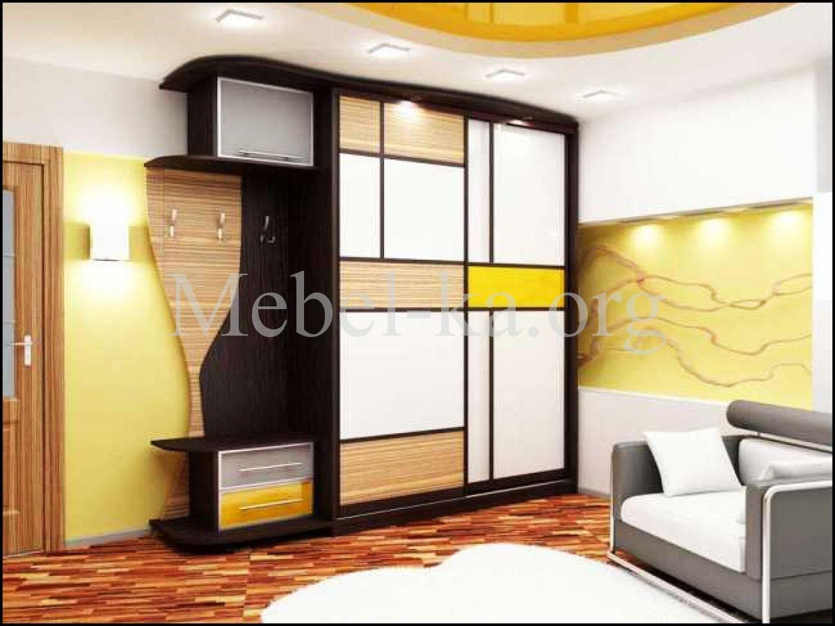 Современный интерьер прихожей со шкафом-купе: фото, дизайн ф.